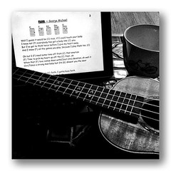 learning new songs early in the morning #bliss #happy365 #2013pad (Kim Tairi) Tags: square fun ukulele squareformat happy365 iphoneography instagramapp 2013pad