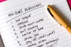New Year's Resolutions (Olson Communications) Tags: pen paper list diet willpower determination quitsmoking commitment resolutions commit debt promises resolute newyearsresolutions healthylifestyle