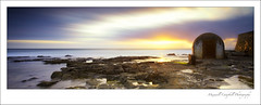 Pump House Newcastle (Maxwell Campbell) Tags: ocean longexposure morning sea panorama sun seascape pool station sunrise canon newcastle landscape photography rocks australia canoe pump baths nsw cowrie nobbys maxwellcampbell