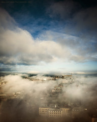 Cathedral in Fog (Lee Carus) Tags: fog liverpool catholic cathedral sony january alpha a99