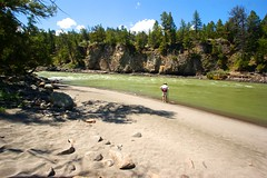 A sandy beach at the confluence of the Hellroaring Creek and the Yellowstone River, Hellroaring Creek Trail, Yellowstone National Park, WY (Dr. Doc) Tags: hiking yellowstonenationalpark wyoming sandybeach hellroaringcreek hellroaringcreektrail theyellowstoneriver tamronspaf1024mmlens