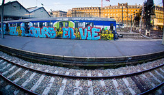 PSL TOUJOURS EN VIE :]] (nARCOTO) Tags: paris saint gris gare graf graffitis ptit lazare transilien snc