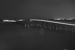 Marler Bridge - Destin, Florida (fisherbray) Tags: bw usa water monochrome night hotel nikon wasser unitedstates florida resort destin eastpass 32541 okaloosacounty d5000 emeraldgrande fisherbray marlerbridge zip32541