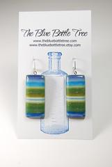 Stripe earrings card (The Blue Bottle Tree) Tags: polymerclay earrings gingerdavisallman thebluebottletree controlledmarblingtechnique lyndamoseley