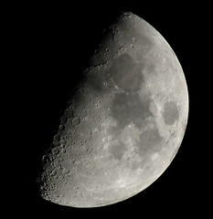 First Quarter, 60% of the Moon is Illuminated taken on January 19, 2013 with a FUJI HS10 using a 1.7x TCL J DSCF4618 (Ted_Roger_Karson) Tags: moon fuji telephoto finepix fujifilm jpeg moonshot moonwatch hs10 mooncapture telephotoconversionlens 17xteleconversionlens 17xtelephotoconversionlens fujifilmhs10 fujifilmfinepixhs10 fujihs10 17xconversionlens