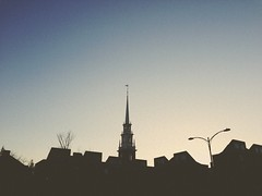 (AnthonyTulliani) Tags: sunset shadow silhouette boston harvard explore iphone phoneography iphone5 iphoneography uploaded:by=flickrmobile flickriosapp:filter=nofilter