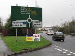 IMG_9951 (ppg_pelgis) Tags: road sign fly bed beds dreams signage illegal a5 posting beltany omagh notadrone