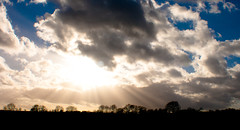 In the heavens (Raise me up). (Holly Norval) Tags: cloud sun canon lights god leicestershire lensflare eos400d