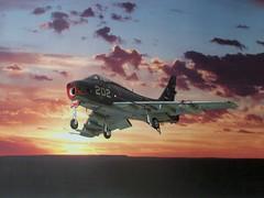1:72 North American FJ-4B 'Fury'; aircraft '202', 860th Squadron, Netherlands Marine-Luchtvaartdienst/MLD; on board of HNLMS Karel Doorman R81, New Guinea/Indonesia region, 1960 (Whif) (dizzyfugu) Tags: sea sky netherlands dutch dark indonesia grey conversion aircraft north navy s fantasy american type kit extra carrier fury karel 172 1960 squadron doorman whatif f86 modellbau mld whif bullpup r81 marineluchtvaartdienst hnlms fj4 fj4b 860th emhar asiarama whatifmodeler agm12a