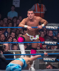 'Party' Marty Scurll & The Blossom Twins vs. Tara, Jesse & Gail Kim (simononly) Tags: uk england london tour live wrestling arena american impact pro fujifilm british bootcamp challenge wembley tna f600 lockdown knockouts 2013 scurll