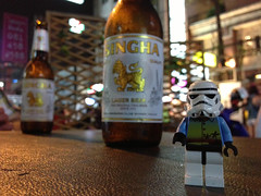 Singha ([inFocus]) Tags: travel holiday beer night thailand starwars lego action bangkok stormtrooper minifigure khaosanroad singha iphone5