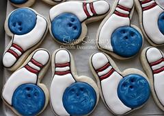 Bowling Cookies (Sugar Sanctuary (Beka)) Tags: birthday party cookies ball pin cookie pins bowling strike