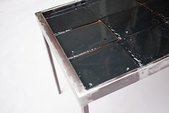 "Slate and Acrylic Top Coffee Table - Corner Detail • <a style=""font-size:0.8em;"" href=""http://www.flickr.com/photos/80301931@N08/8467384946/"" target=""_blank"">View on Flickr</a>"