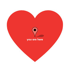 you are here (sir manish) Tags: love heart pointer maps valentine