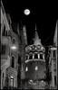 Galata Tower Istanbul (Sadettin Uysal) Tags: moon night turkey mond nacht türkiye istanbul türkei ay galata gece galatatower mehtap galatakulesi dolunay sadettinuysal