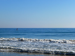 The Man in the Sea (Fotomondeo) Tags: sea espaa beach coffee valencia breakfast mar cafe spain sand playa arena alicante desayuno lx7 playadesanjuan lumixlx7 panasoniclumixlx7