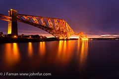 Forth Rail bridge Pre Dawn (John Farnan Photography) Tags: uk greatbritain architecture scotland edinburgh eastcoast forthbridge forthrailbridge railbridge longexosure pastelcolors pastelcolours wowlandscapescotland