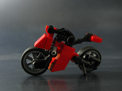 Vroom!!! (mondayn00dle) Tags: bike lego crotch motorcycle rocket ducati