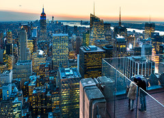 New York City - Bird's Eye View of Manhattan and Beyond (Yen Baet) Tags: newyorkcity sunset vacation panorama usa newyork building architecture night america photography lights us photo twilight cosmopolitan downtown view skyscrapers unitedstates manhattan postcard rockefellercenter landmark icon historic midtown boroughs american hudsonriver empirestatebuilding states picturesque iconic bigapple birdseyeview topoftherock eastcoast observationdeck observationtower gebuilding yenbaet