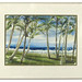 251. Original Watercolor of a Tropical Beach