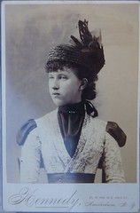 Cabinet photo of beauteous girl dressed very stylishly (Kingkongphoto & www.celebrity-photos.com) Tags: old family girl hat death antique aged mortal cabinetphoto