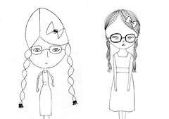drawing girls 1. (pretty little thieves) Tags: illustration kidsart girlart drawinggirls