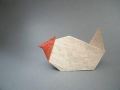 Chicken - Kunihiko Kasahara (Rui.Roda) Tags: chicken origami papiroflexia kasahara kunihiko