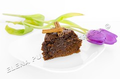 Desayuno (Elenita_) Tags: decorations party food brown black flower macro cooking cake dark pie dessert restaurant high colorful dish sweet sauce chocolate cinnamon cream cook plate fork sugar gourmet delicious part eat slice bakery tulip pastry icing brownie custard treat piece celebrate decorate bake isolated indulgence mousse garnish chocolatecake fattening rosting lovebreakfast