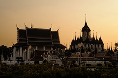 Rattanakosin Sunset (TigerPal) Tags: sunset thailand temple nikon bangkok buddhism gettyimages rattanakosin d700 prasartlohat