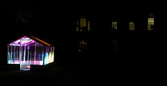 The illuminated greenhouse (shaggy359) Tags: old pink blue windows cambridge light house color colour green window festival night dark lights evening neon darkness bright lawn illuminated greenhouse colored lit schools coloured cambridgeshire senate illuminate cambs eluminate