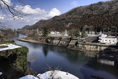 Dammed Somewhere in Okuhida (njmatsuya) Tags: winter japan clouds river dam okuhida