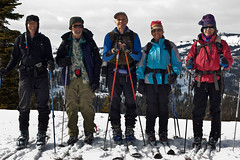 "Jack, Art, Paul, Janet and Renate_5557 (hkoons) Tags: california snow ski mountains landscape nordic recreation sierras i80 peaks skis donnerlake wintersports sierramountains donnerpeak nordicskiers ""crosscountry"" ""crosscountryskiing"" nordicskiersofnevadacounty snowdonnerlake ""schallenbergerridge"" ""northerncalifornia"