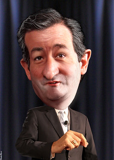 From flickr.com/photos/47422005@N04/8511594056/: Ted Cruz - Caricature