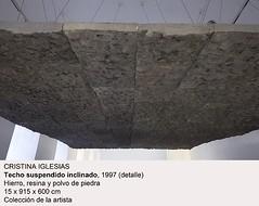 Techo Suspendido Inclinado. 1997 (detalle)