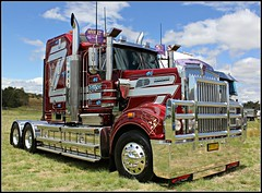 Muscat Haulage (rbbrown96) Tags: for big cancer rig canberra convoy muscat kw kenworth haulage 2013 t904 t908