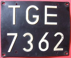 POLAND, TARNOBRZEG 1990's ---LICENSE PLATE, THICK PLASTIC WITH RIVITED LETTERING (woody1778a) Tags: world auto canada cars car sign vintage europa europe edmonton photos tag woody poland plate tags licenseplate collection number photographs license plates foreign numberplate licenseplates numberplates licenses pl cartag carplate carplates autotags cartags autotag tarnobrzeg foreigns pl8s worldplate foreignplates platetag