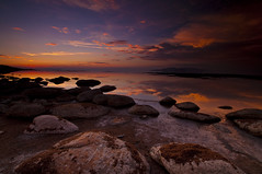 Cloud Globulars_DSC8193_E489a (antelope reflection) Tags: sunset lake reflection water colors clouds utah antelopeisland greatsaltlake utahstatepark nikond90 tamron1024