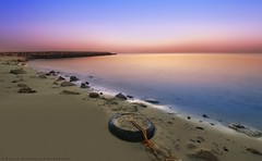 Before sunrise (khalid almasoud) Tags: before sunrise photographer khalid almasoud  all rights reserved south shore rocks formations low tide weather calm pentax k01 sigma 10mm20mm f35 ex dc hsm af tire sea reflection sand layers color     light            gnneniyisi thebestofday icapture flickr estrellas absolutely perrrfect greatphotographers blinkagain