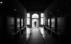 Passage through the light (IntroIuvara) Tags: light bw dark through passage lightroom blackwhitephotos