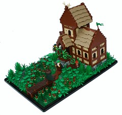 Tavern in the Sloughy Lands (Simon S.) Tags: house castle forest inn lego bricks knights tavern mage kingdoms avalonia forestmen lenfald
