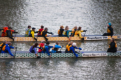 Neck to Neck Dragon Boats (Orbmiser) Tags: winter oregon race river portland boats teams nikon rowing dragonboats willamette d90 55200vr dragonsportsusa