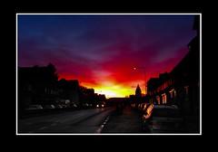 Straat (Theo Kelderman) Tags: holland netherlands canon nederland zonsopgang huizen straat vaals wolkenlucht autos december2012 theokeldermanphotography