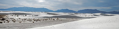 DBP074 (danababy1076) Tags: blue panorama white mountains newmexico landscape nationalpark desert whitesands dunes