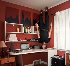 How do you forget someone you know so well? (STCM) Tags: fall love work neck stand office pain hurt head balance morris headstand caulton stcm