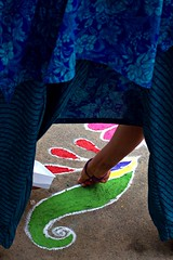14 (akila venkat) Tags: street art colours patterns bangalore rangoli indianart