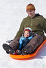 Father and Son (Rock Steady Images) Tags: camera original winter boy snow ontario canada events father hill son places equipment cameras 7d processing sledding handheld sled tobogan 50views lenses outdooractivities alliston 25views freelanceassignment newtecumseth bypaulchambers canonef70200mmf28isiiusm lightroom4 rocksteadyimages