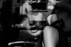 . (Gabriel_Misfire) Tags: street windows blackandwhite white black mannequin shop e bianco nero botique