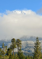 Shasta in the mist.  Explore 3-23-2013 (Fourbluz (in and Out, Crazy life)) Tags: california mist snow clouds nikon mt mount explore shasta yabbadabbadoo d7000 3232013