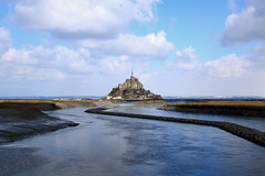 Mont-Saint-Michel (pixiprol) Tags: cloud france saint french europa europe unesco normandie michel nuage normandy francia mont manche basse abbaye ilot