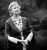 Edgier-Eller Woman in Period Dress (1mpl) Tags: olympusomdem1 germany edigereller travelphotography portraitsmonochrome bw niksilverefexpro